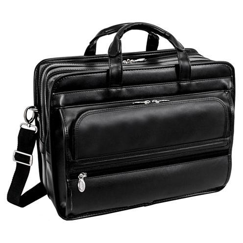 "McKleinUSA Elston 15.6"" Leather Double Compartment Laptop Briefcase"