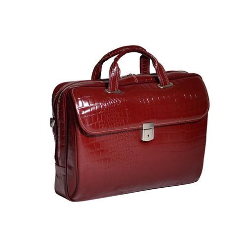 """McKleinUSA Servano 13.3"""" Leather Tablet Briefcase"""