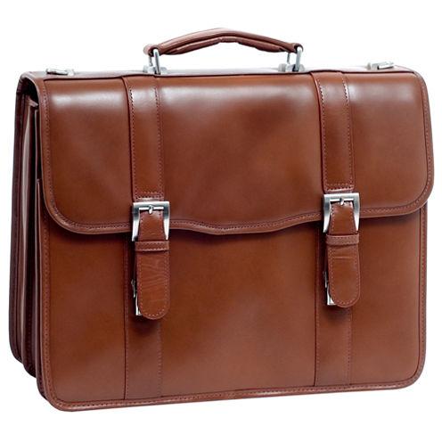 "McKleinUSA Flournoy 15.4"" Leather Double Compartment Laptop Briefcase"