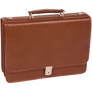 "jcpenney.com | McKlein Lexington 17"" Flapover Double Compartment Briefcase"