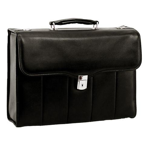 """McKleinUSA North Park 15.4"""" Leather Executive Laptop Briefcase"""