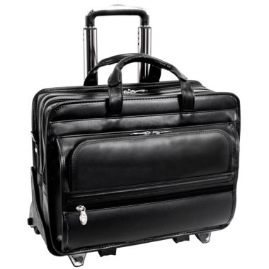 jcpenney.com | Franklin 17 Leather Detachable Wheeled Laptop Case