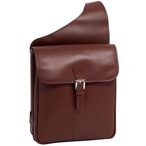 "McKleinUSA Sabotino 14"" Leather Vertical Messenger Bag"