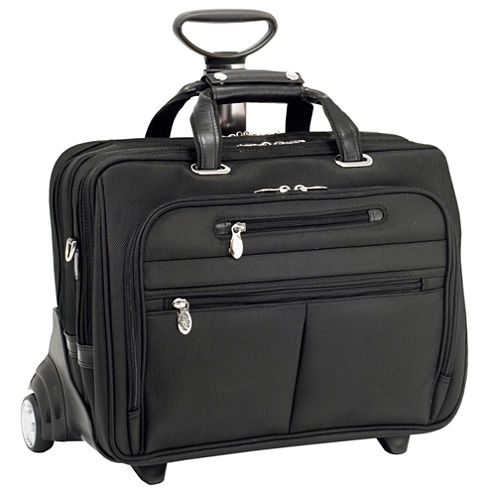 "McKleinUSA Ohare 15.6"" Nylon Fly-Through™ Checkpoint-Friendly Detachable Wheeled Laptop Briefcase"