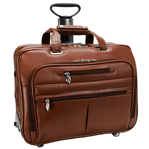"McKleinUSA Ohare 15.6"" Leather Fly-Through™ Checkpoint-Friendly Detachable Wheeled Laptop Briefcase"