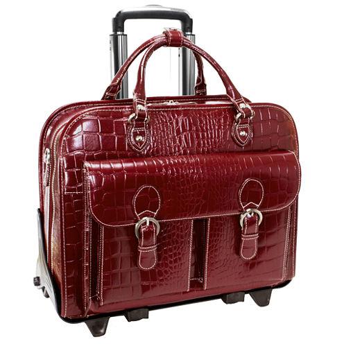 "McKleinUSA San Martino 14"" Leather Detachable -Wheeled Laptop Briefcase"