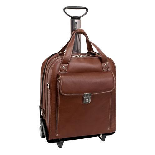 "McKleinUSA Pastenello 15.6"" Leather Vertical Detachable -Wheeled Laptop Briefcase"