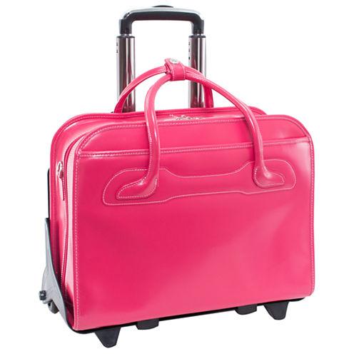 "McKleinUSA Willowbrook 15.6"" Leather  Detachable -Wheeled  Laptop Briefcase"
