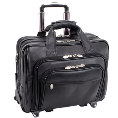 "jcpenney.com | MCKLEIN GOLD COAST LEATHER 17"" DETACHABLE-WHEELED LAPTOP CASE [PATENTED]"