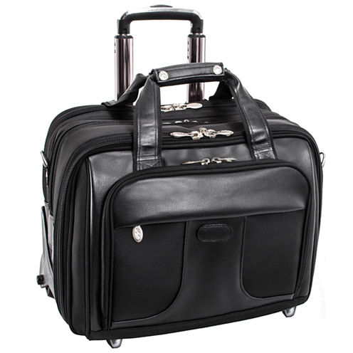 "McKleinUSA Chicago 15.6"" Nylon Detachable -Wheeled Laptop Overnight with Removable Briefcase"