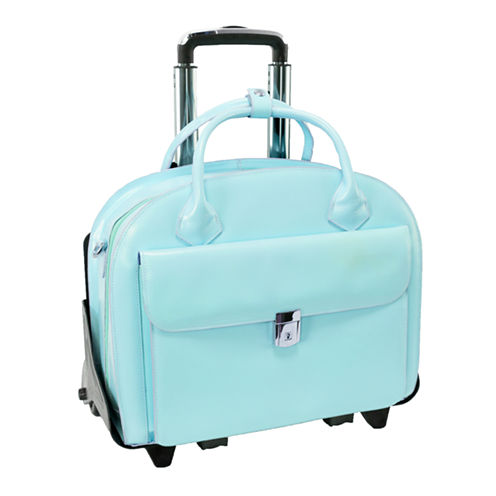 "McKleinUSA Glen Ellyn 15.4"" Leather  Detachable -Wheeled  Laptop Briefcase"