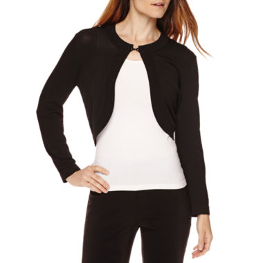 jcpenney.com | Ronni Nicole 3/4-Sleeve Toggle Closure Shrug