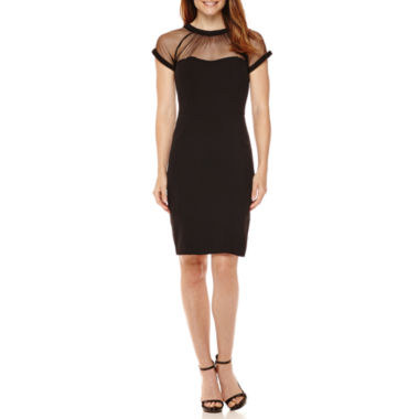 jcpenney.com | Scarlett Short-Sleeve Illusion Sheath Dress