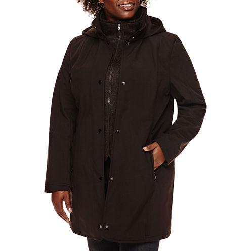 Liz Claiborne® Soft Shell Jacket with Knit Vest - Plus