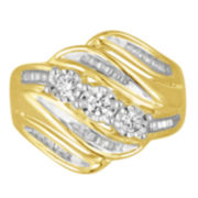 Love Lives Forever 1/2 CT T.W. Genuine Round Diamond Yellow 10K Engagement Ring