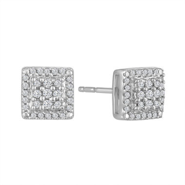jcpenney.com | Diamond Blossom 1/5 CT. T.W. Round White Diamond Sterling Silver Stud Earrings