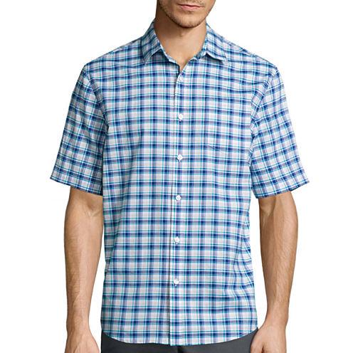 Claiborne® Short-Sleeve Stretch Woven Shirt