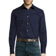 Claiborne® Long-Sleeve Stretch Woven Shirt