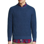St. John's Bay® Long-Sleeve Two-Toned Indigo Sweater