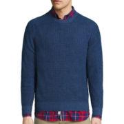 St. John's Bay® Long-Sleeve Two-Toned Indigo Sweater