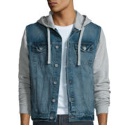 Arizona Long-Sleeve Hooded Denim Jacket