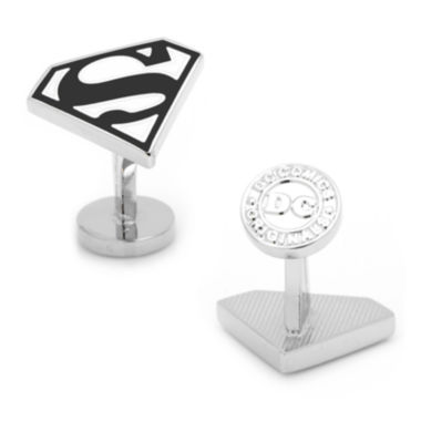 jcpenney.com | Black and White Superman Shield Cuff Links