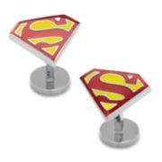 Textured Superman Shield Chuff Links
