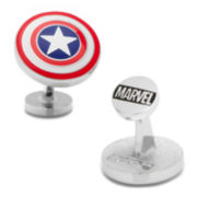 Captain America Shield Cuff Links