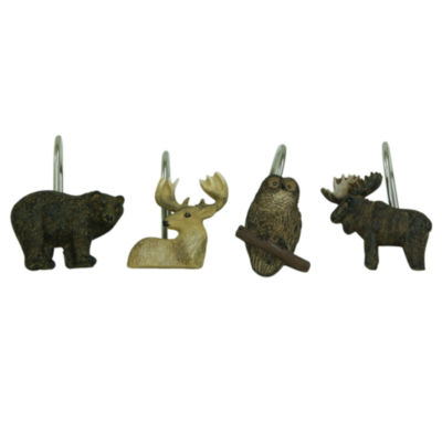 Bacova Guild Tetons Shower Curtain Hooks