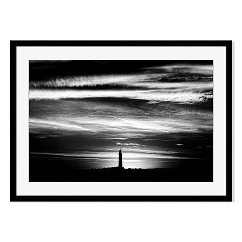Hilltop Lighthouse Framed Print