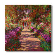 Monet's Garden Canvas Wall Art