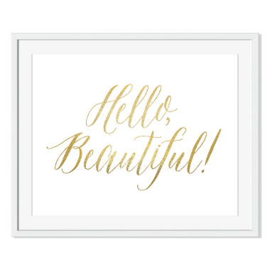 jcpenney.com | Hello Beautiful Framed Print