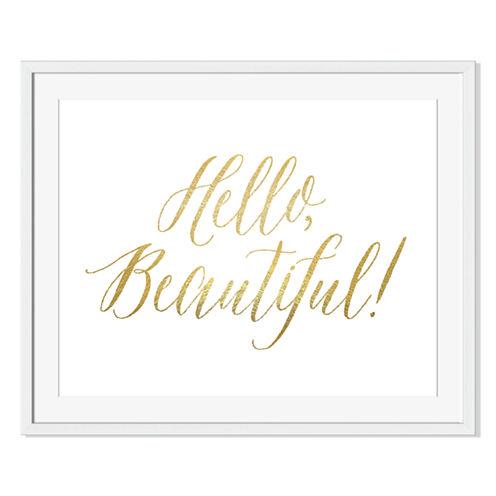 Hello Beautiful Framed Print