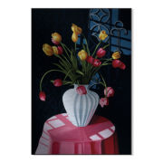 San Marcos Tulips Metal Art
