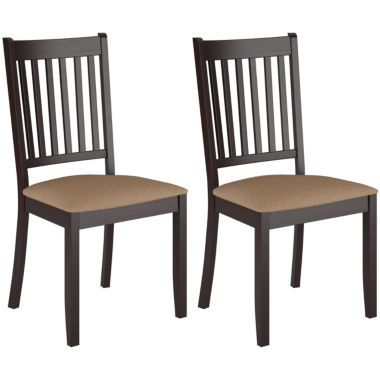 jcpenney.com | Atwood Cappuccino Stained Dining Chairs with Microfiber Seat, Set of 2