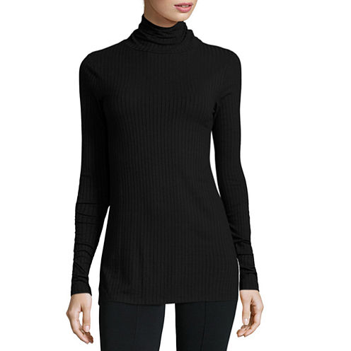 i jeans by Buffalo Long-Sleeve Turtleneck Ribbed Tunic Top