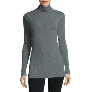 jcpenney.com | i jeans by Buffalo Long-Sleeve Turtleneck Ribbed Tunic Top