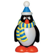 Outdoor Holiday Penguin w Blue/Yellow Scarf