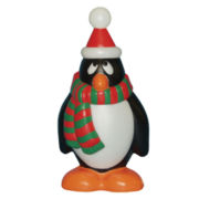 Outdoor Holiday Penguin w Red/Green Scarf