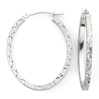jcpenney.com | 14K White Gold Hoop Earrings
