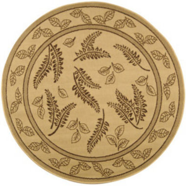 jcpenney.com | Courtyard Leaves Indoor/Outdoor Round Rugs