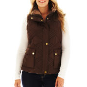 KC Collections Reversible Faux-Fur Vest - Plus