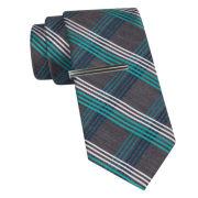 JF J. Ferrar® Plaid Tie and Tie Bar Set - Slim
