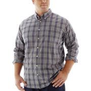 The Foundry Supply Co.™ Easy-Care Plaid Poplin Shirt–Big & Tall