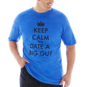 Keep Calm Date Big Tee–Big & Tall