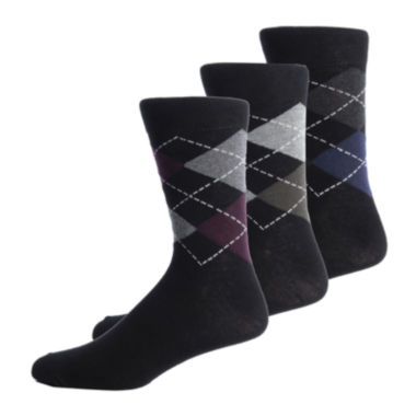 jcpenney.com | Gentle Grip 3-pk. Crew Socks