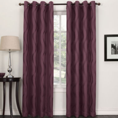 jcpenney.com | Sun Zero™ Stratton Room-Darkening Grommet-Top Curtain Panel