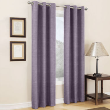 jcpenney.com | Sun Zero™ Mirage Room-Darkening Grommet-Top Curtain Panel