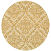 Damask Indoor/Outdoor Round Rug