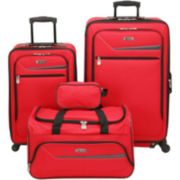 IZOD® Metro 3.0 4-pc. Expandable Spinner Upright Luggage Set